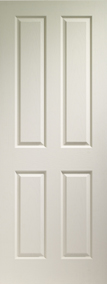 Internal White Moulded Victorian 4 Panel